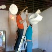 Intern duties: artwork installation