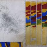 Live transmission drawings, recording Monarch butterflies' flight patterns, by Morgan O'Hara (USA)