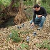 Environmentally-responsive sonic installation, a collaboration between Scott Cazan (USA) and Carmina Escobar (MEXICO).